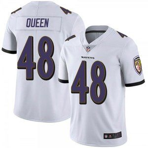 Ravens Patrick Queen White Jersey